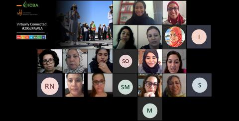 The association was launched by Dr. Tarifa Al Zaabi, Deputy Director-General of ICBA during the first virtual session of the network, which was attended by 18 of 22 members of the alumnae, in addition to ICBA scientists; the inaugural session was symbolized by a digital code (phoneword) for AWLA, 2952.
